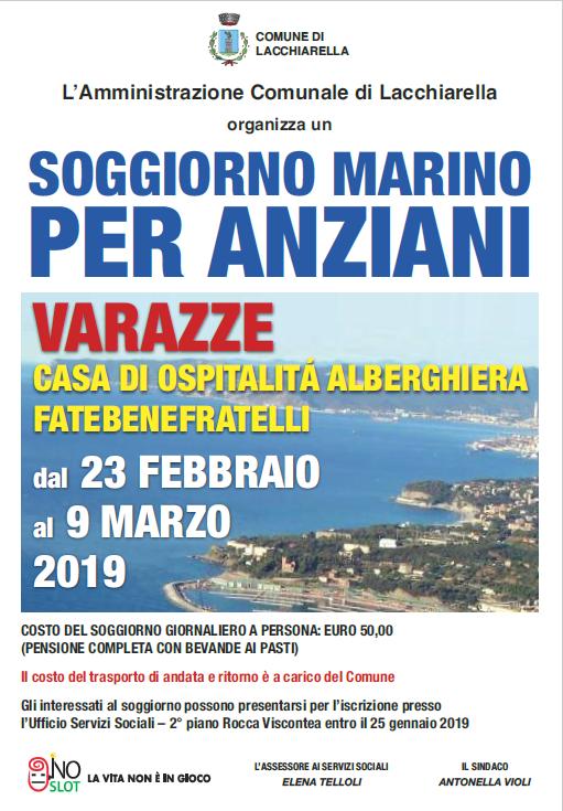 SOGGIORNO MARINO PER ANZIANI - Comune di Lacchiarella