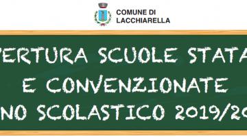 APERTURE SCUOLE STATALI E CONVENZIONATE ANNO SCOLASTICO 2019-2020