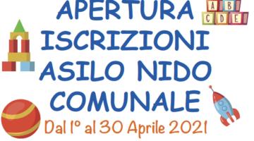 APERTURA ISCRIZIONI ASILO NIDO COMUNALE