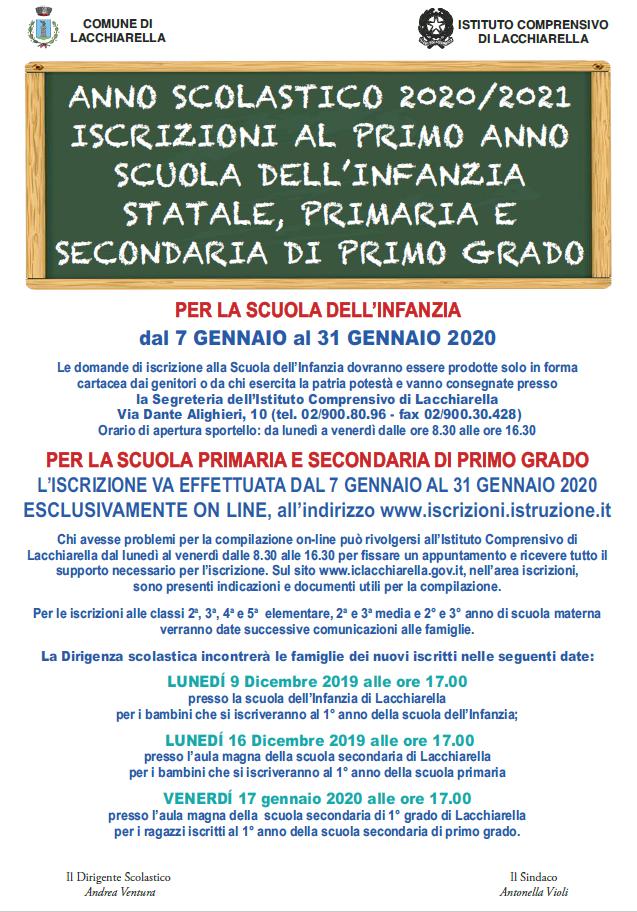 iscrizione scuola