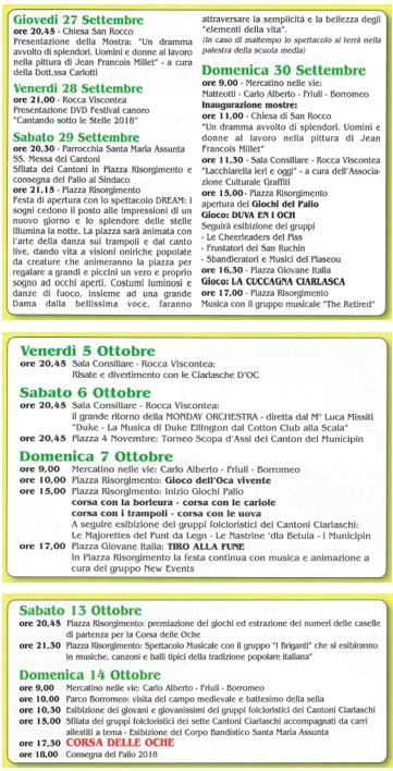 programma autunno 2018
