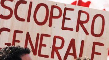 AVVISO: 08 MARZO 2019 – SCIOPERO GENERALE NAZIONALE
